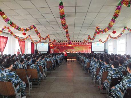 千赢国际老虎机隆重举行第三十期春季新生军训开营式